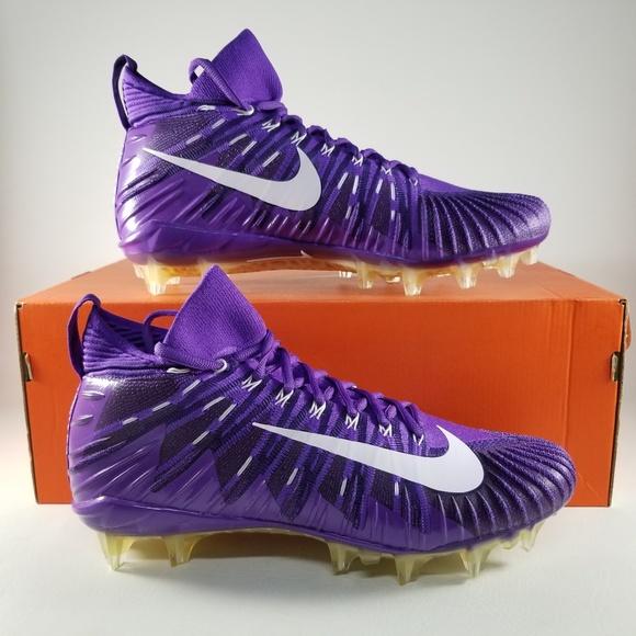 half off c3413 502d9 Nike Alpha Menace Elite Football Cleats Purple